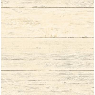 Colleen Honey Washed Boards Wallpaper