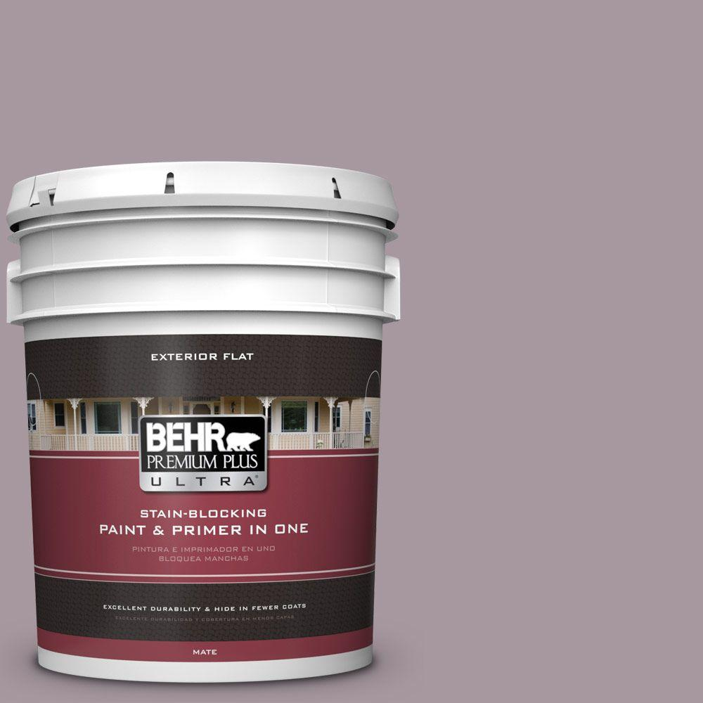 BEHR Premium Plus Ultra 5-gal. #N110-3 Fig Preserves Flat Exterior Paint