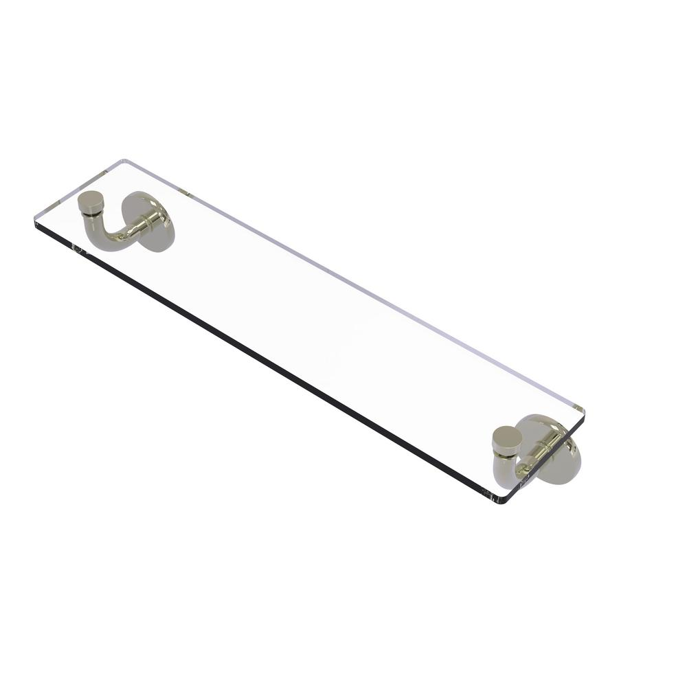Remi Collection 22 in. Glass Vanity Shelf with Beveled Edges in