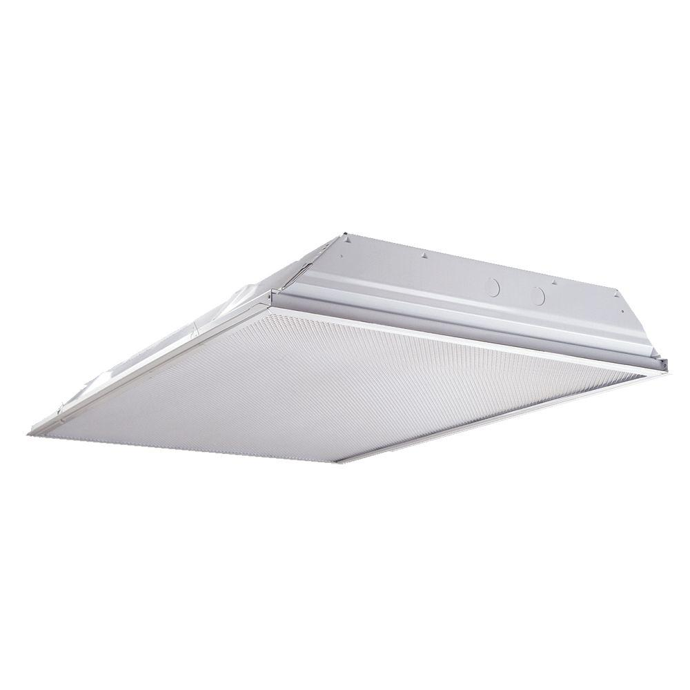 Commercial Grade Led Track Lighting: Metalux 2 Ft. By 4 Ft. 32-Watt Equivalent White Commercial