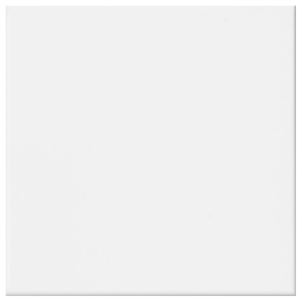 Daltile Glacier White 12 in. x 12 in. Ceramic Floor and Wall Tile ...