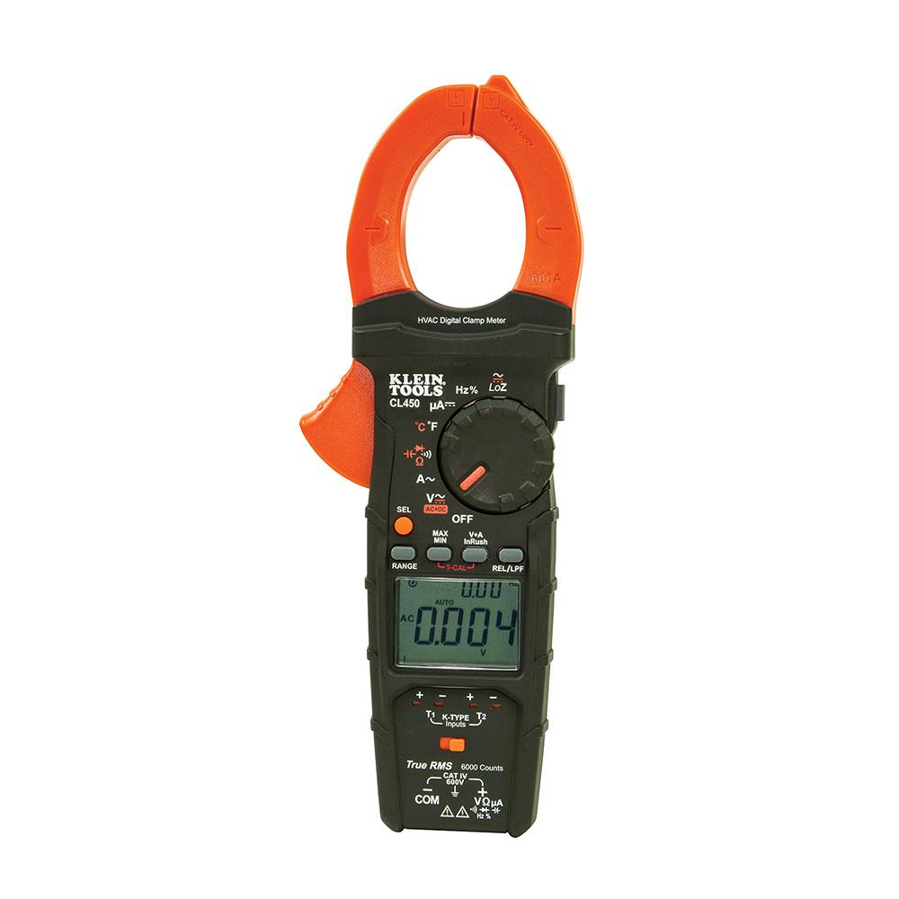 Klein Tools HVAC Clamp Meter with Differential Temperature-CL450 ...