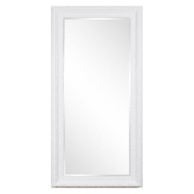 Oversized Rectangle Glossy White Classic Mirror (96 in. H x 48 in. W)