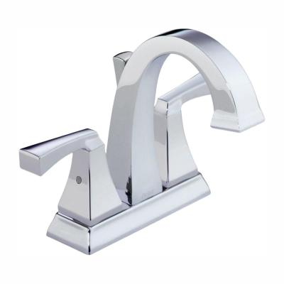 Dryden 4 in. Centerset 2-Handle Bathroom Faucet with Metal Drain Assembly in Chrome