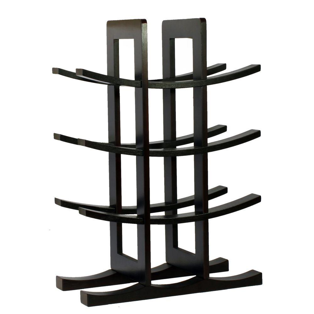 Oceanstar 12 Bottle Bamboo Countertop Wine Rack Wr1132 The Home Depot