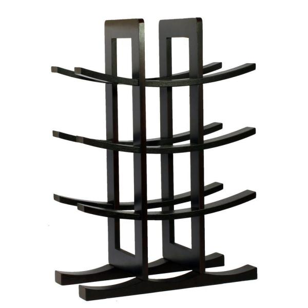 Oceanstar 12-Bottle Bamboo Countertop Wine Rack