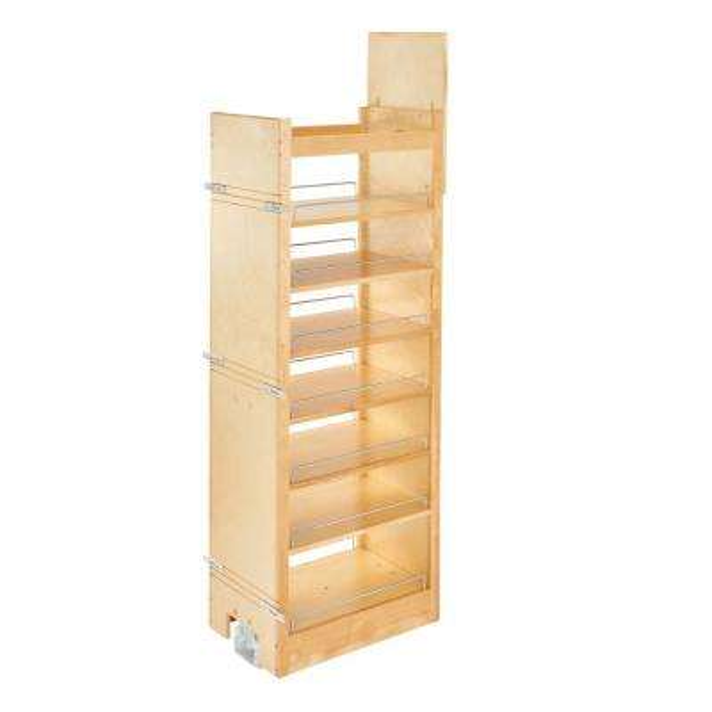 59.25 in. H x 14 in. W x 22 in. D Pull-Out Wood Tall Cabinet Pantry