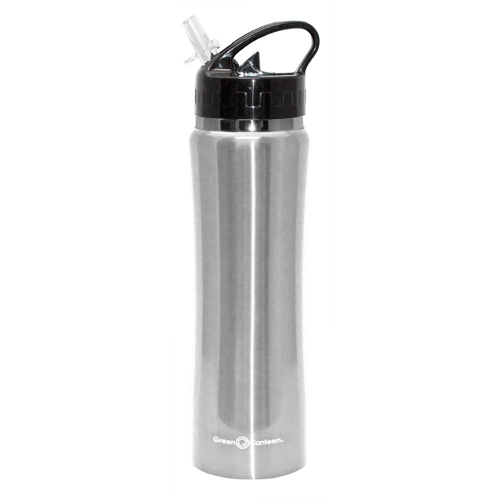53d788f234 Green Canteen 25 oz. Red Stainless Steel Double Wall Thermal Vacuum Bottle  (6-Pack) DWVB-125-R - The Home Depot