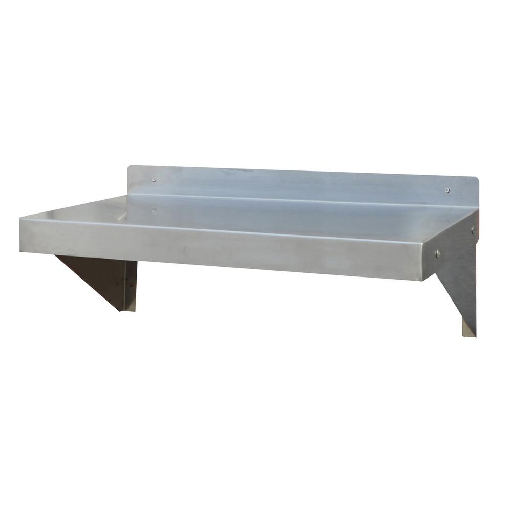 Stainless steel appliance shelf