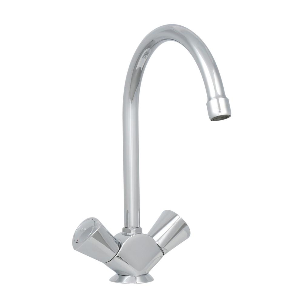 GROHE 2-Handle Kitchen Faucet In StarLight Chrome-31 074