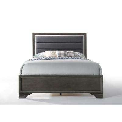 Carine II Charcoal and Gray Queen Bed