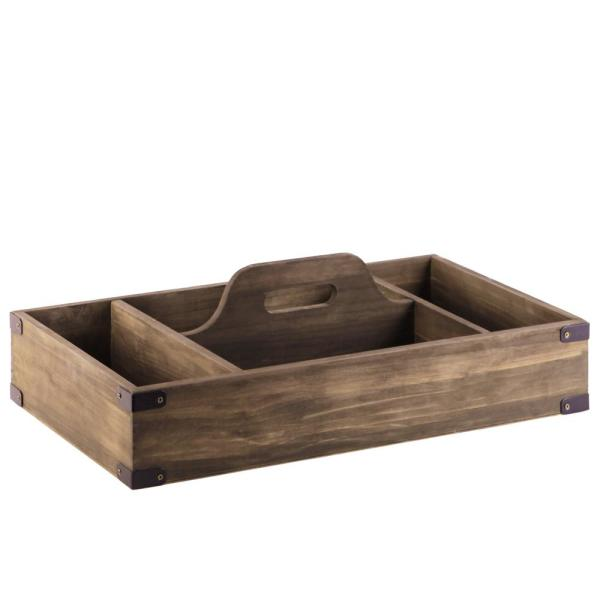 Urban Trends Collection Brown Wood Decorative Tray 52159