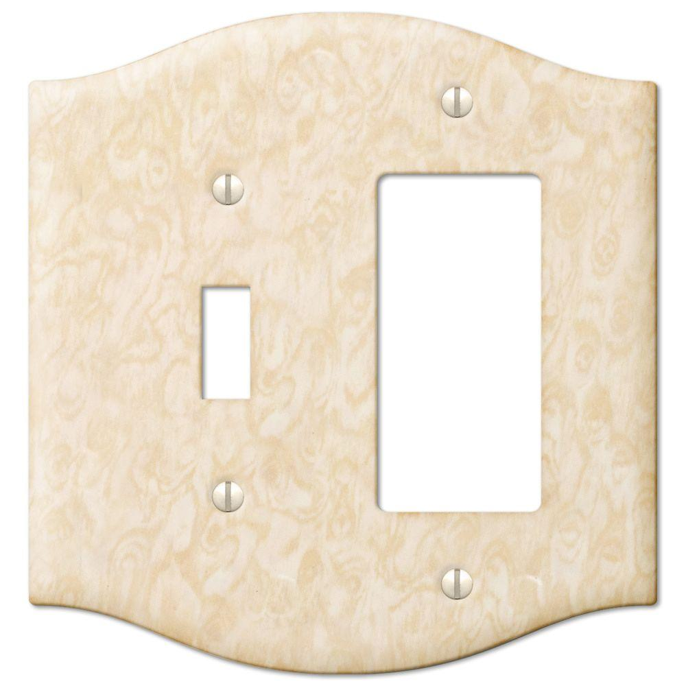 Creative Accents Steel 1 Toggle 1 Decora Wall Plate - Satin Honey