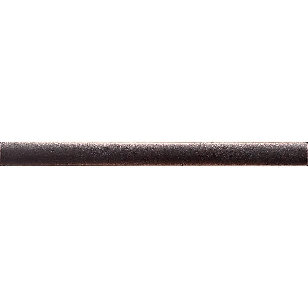 Dal-Tile Ion Metals Oil Rubbed Bronze 1/2 in. x 6 in. Com...