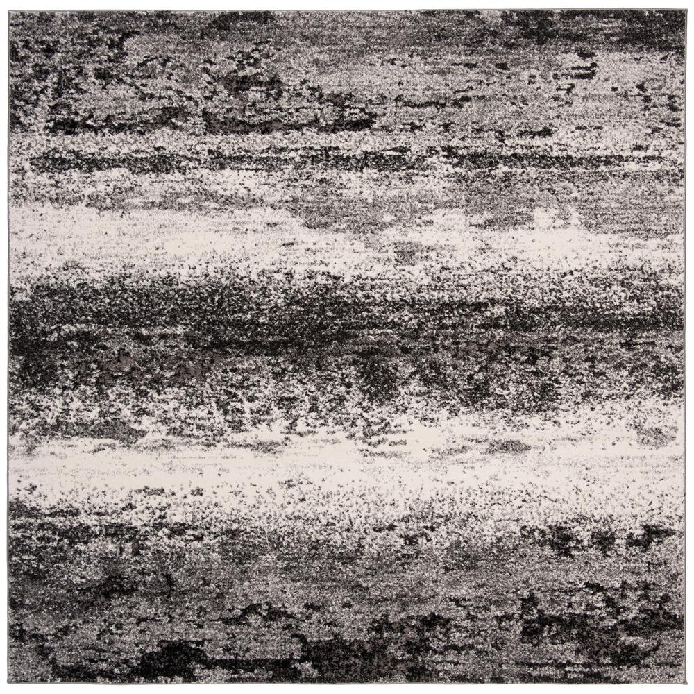 Spirit Charcoal/Light Gray 7 ft. x 7 ft. Square Area Rug