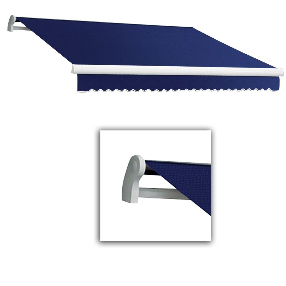 AWNTECH 16 ft. Maui-LX Left Motor Retractable Acrylic Awning with Remote (120 in. Projection) in Navy