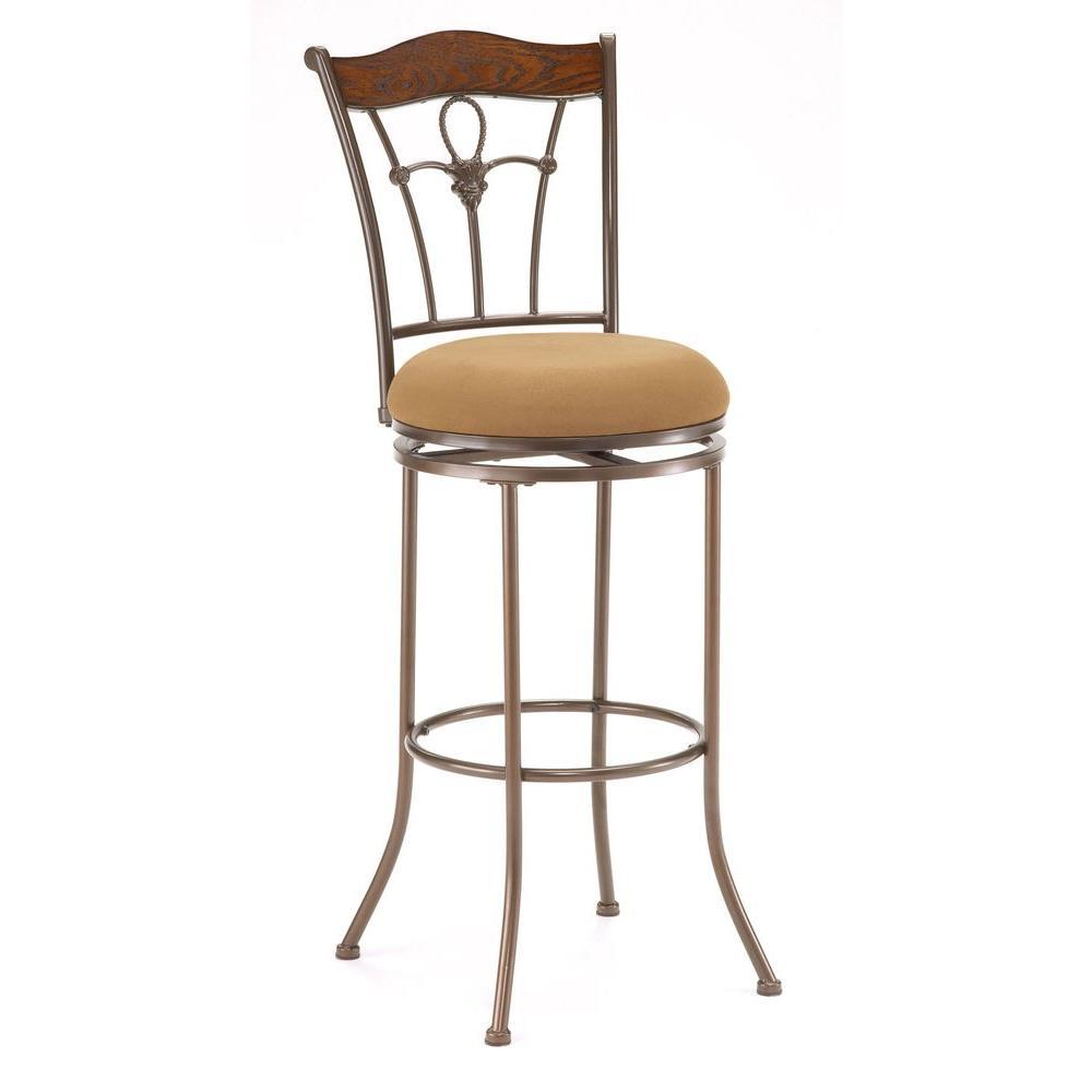 Hillsdale Furniture Ryland Swivel Bar Stool-DISCONTINUED