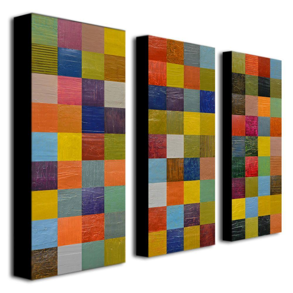 Trademark Fine Art Color Collage 108 By Michelle Calkins 3 Panel Wall Art  Set