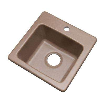 Westminster Dual Mount Granite Composite 16 in. 1-Hole Bar Single Bowl Kitchen Sink in Natural