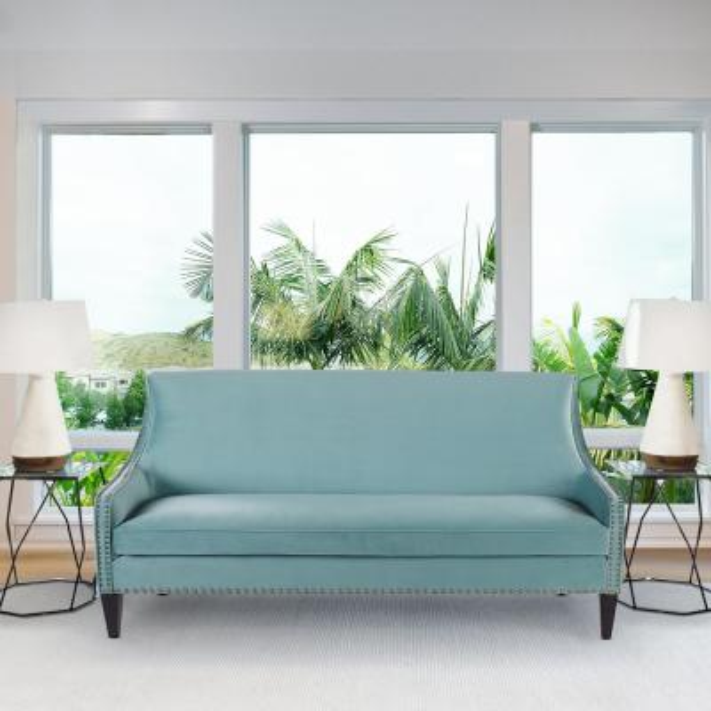 Florence Tight Back Sofa, Arctic Blue