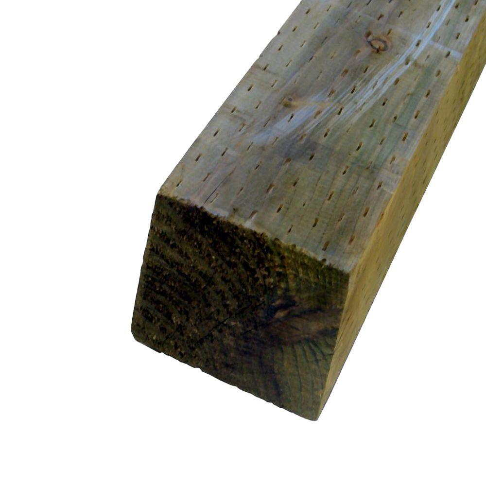 4 in. x 6 in. x 12 ft. Pressure-Treated Timber