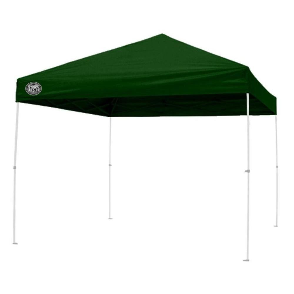 Shade Tech ST64 8 ft. x 8 ft. Straight Leg Instant Patio Canopy in Green