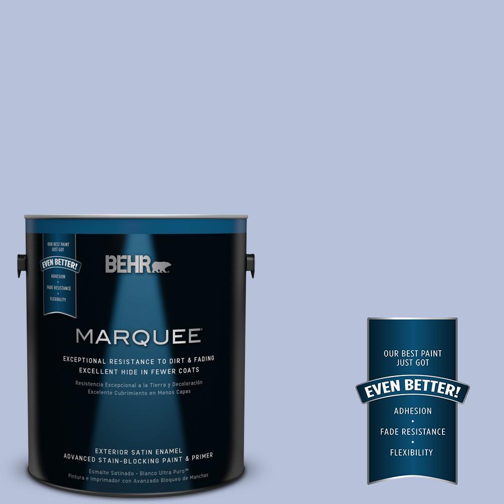 1 gal. #610C-3 Virginia Blue Satin Enamel Exterior Paint