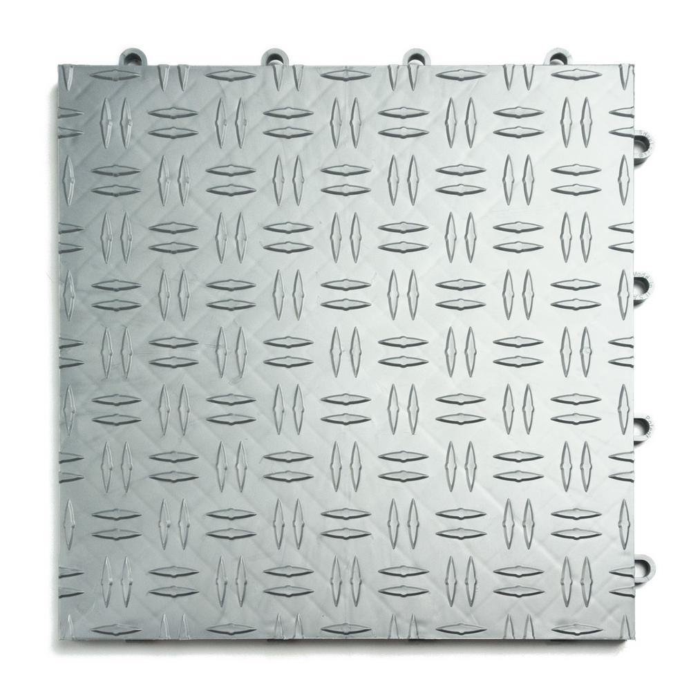 12 in. x 12 in. Diamond Alloy Modular Tile Garage Floorin...
