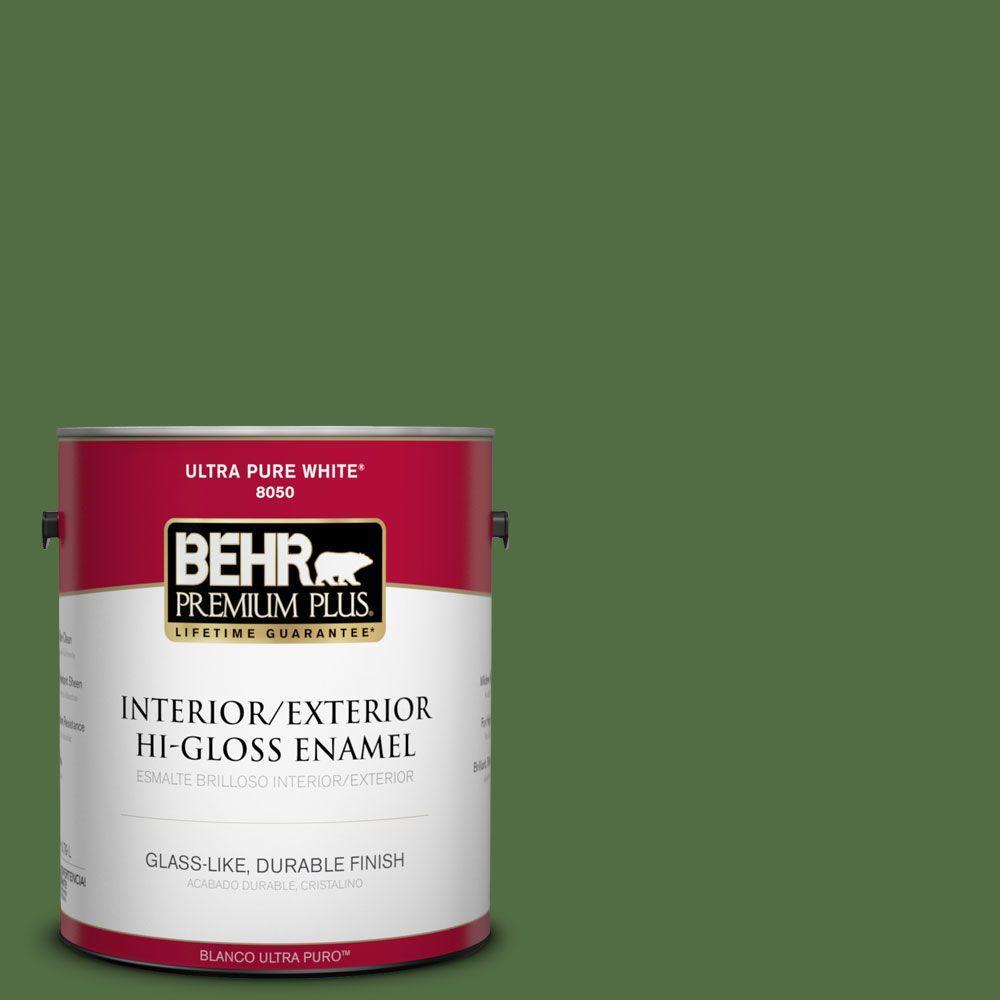 BEHR Premium Plus 1-gal. #430D-7 Pacific Pine Hi-Gloss Enamel Interior/Exterior Paint