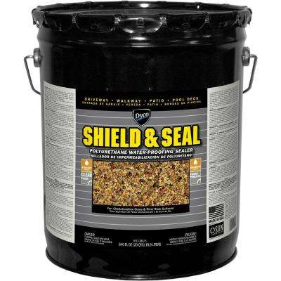 SHIELD & SEAL 5 gal. 1380 Clear Polyurethane Waterproofing Sealer