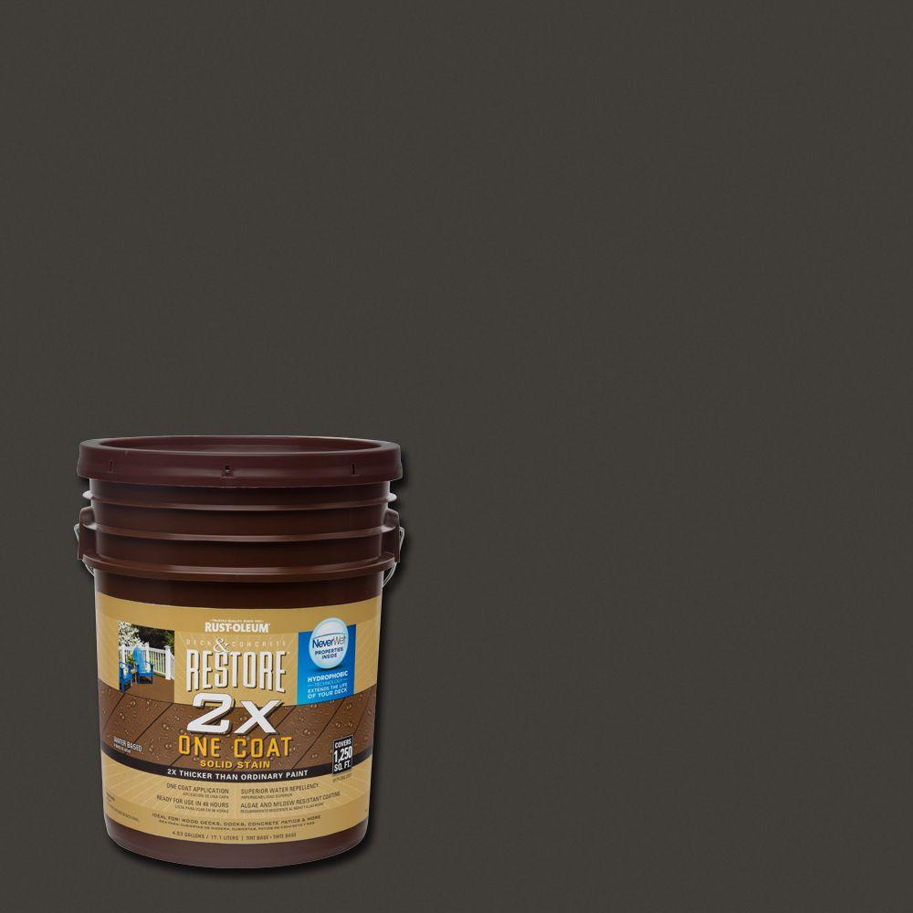 Rust-Oleum Restore 5 gal. 2X Bark Solid Deck Stain with NeverWet
