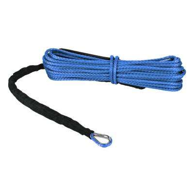 Devil's Hair in Synthetic ATV/UTV Winch Rope in Blue