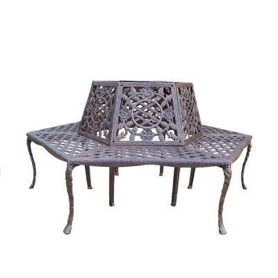 Tea Rose Patio Tree Bench