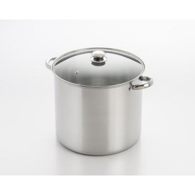 20 qt. Stainless Steel Stock Pot with Glass Lid