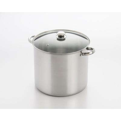 20 Qt. Stainless Steel Stock Pot with Encapsulated Base and Lid