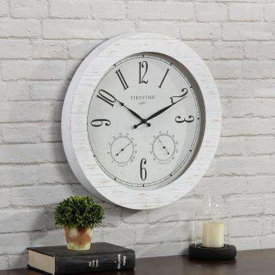 Shiplap Planks Outdoor Clock