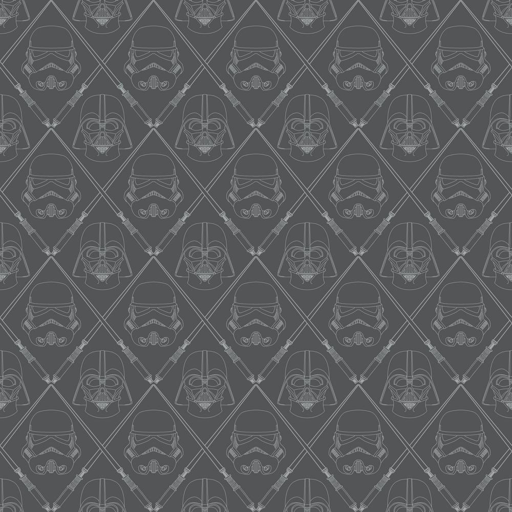 Roommates Star Wars Dark Side Vinyl Peelable Wallpaper Covers 28 18 Sq Ft Rmk11063wp The Home Depot