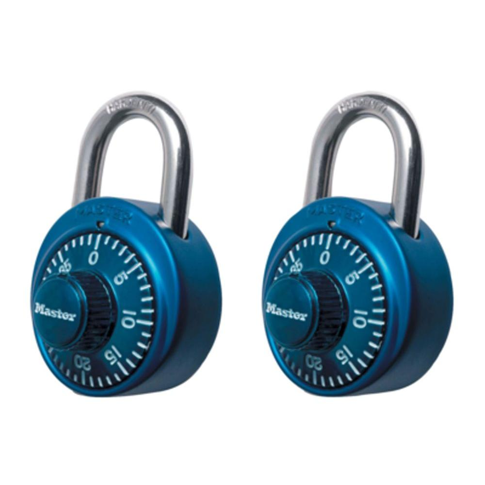 null Preset 3-Digit Dial Combination Padlock (2-Pack)