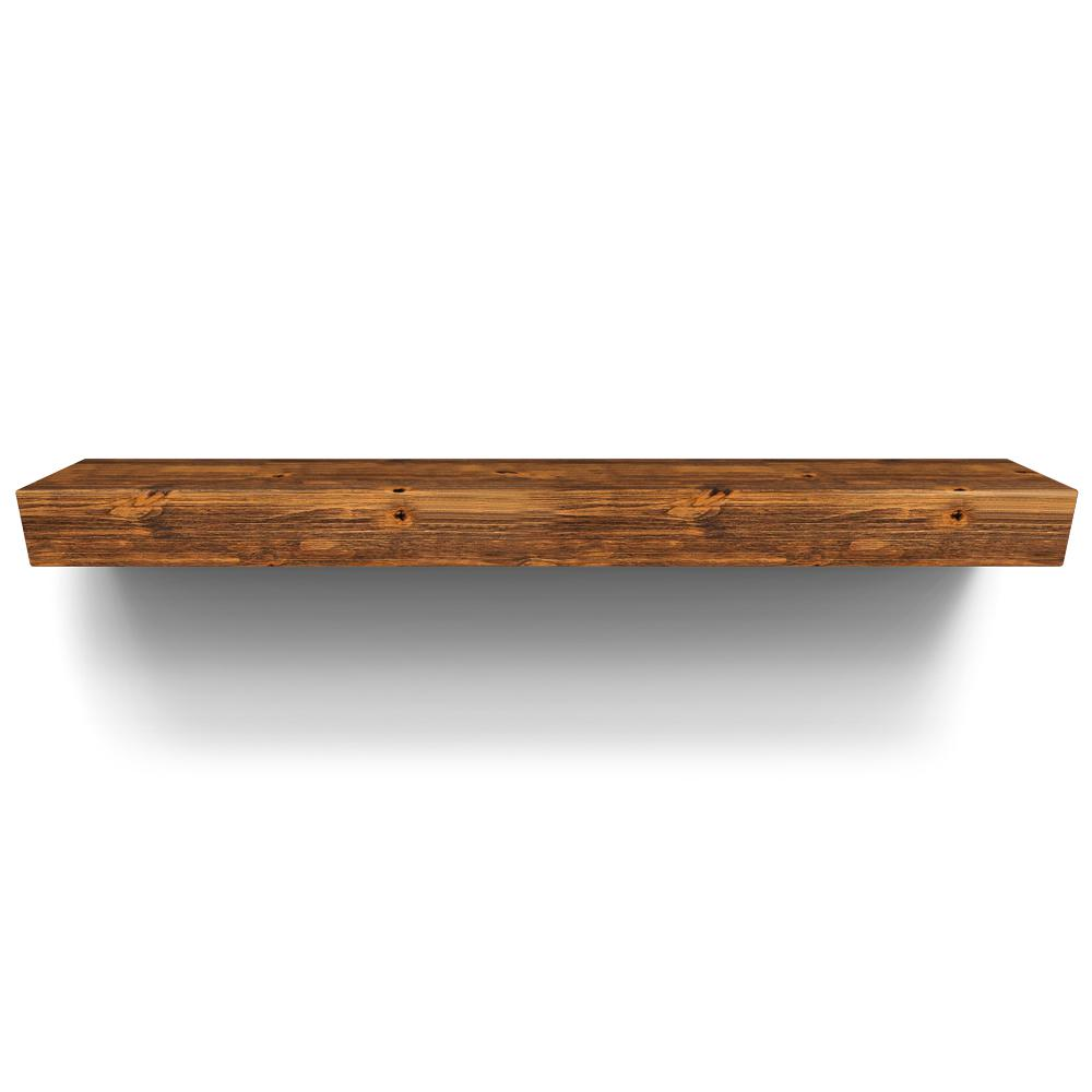 Rustica Hardware Sundance 60 In X 10 In Rustic Mantel Shelf With Glaze Ms5srgc2 The Home Depot