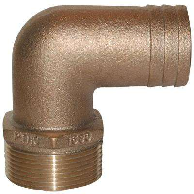 PTHC Bronze Standard Flow 90 Degree Pipe-To-Hose Adapter With NPT Thread