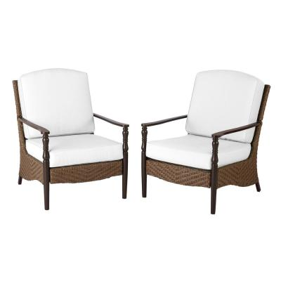 Bolingbrook Wicker Outdoor Patio Lounge Chair with Cushions Included, Choose Your Own Color (2-Pack)