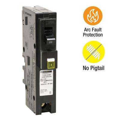 Homeline 20 Amp Single-Pole Plug-On Neutral Combination Arc Fault Circuit Breaker