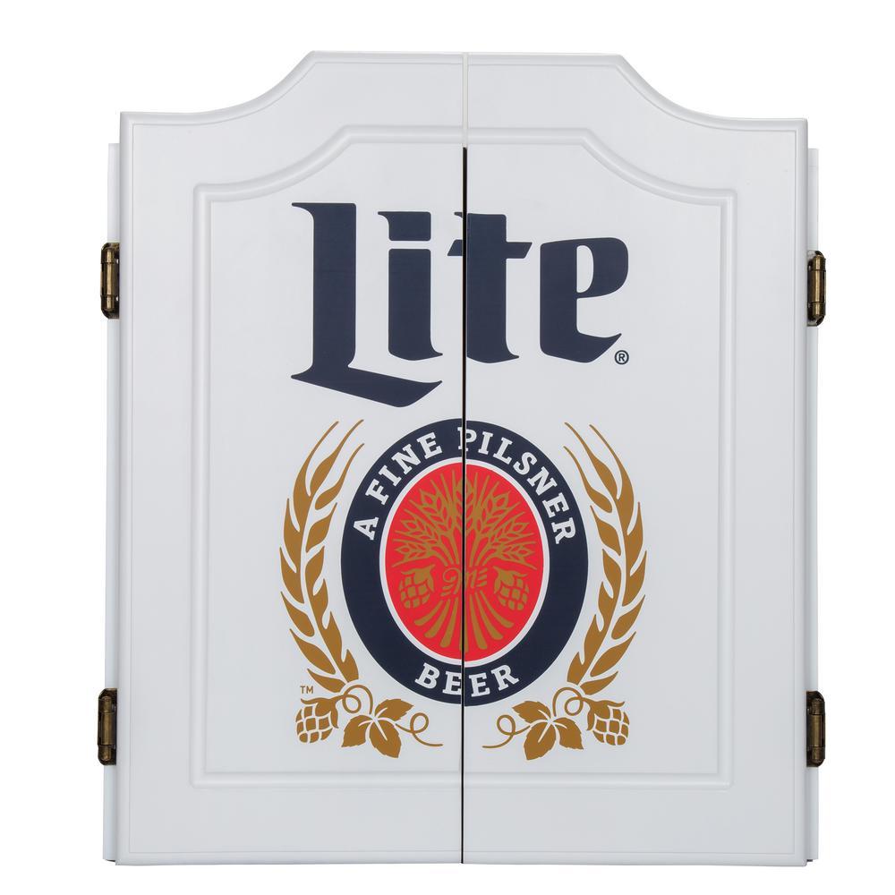 24 in. Vintage Miller Lite Dartboard Set