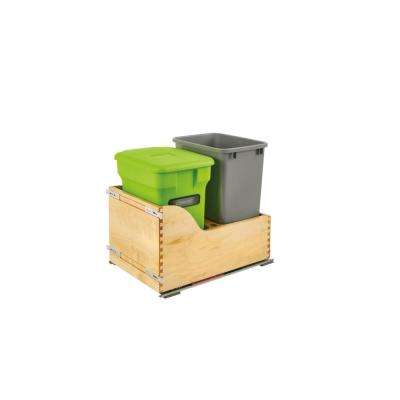 Wood Pull-Out Waste Container and Compost Unit