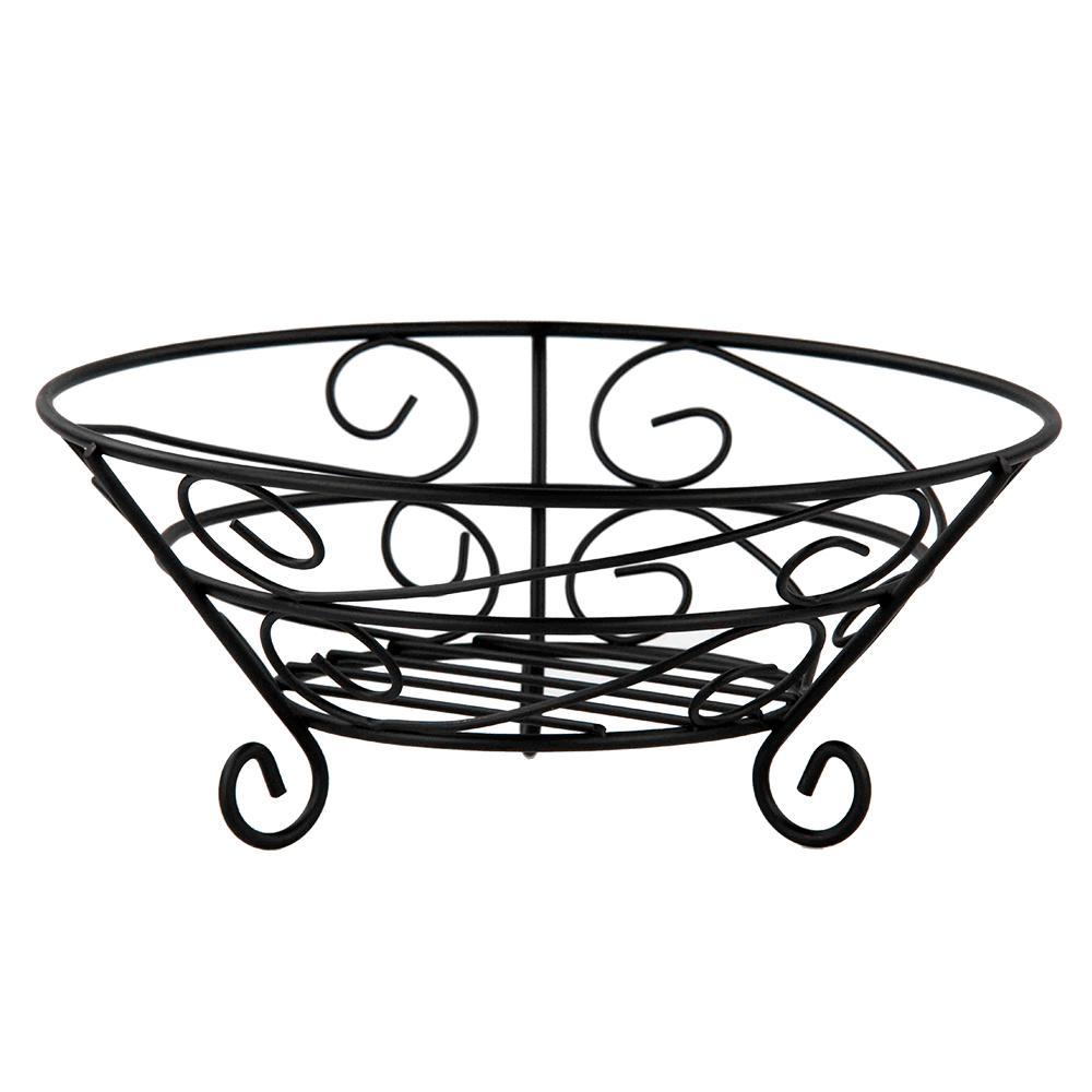 Scroll Collection Black Fruit Basket