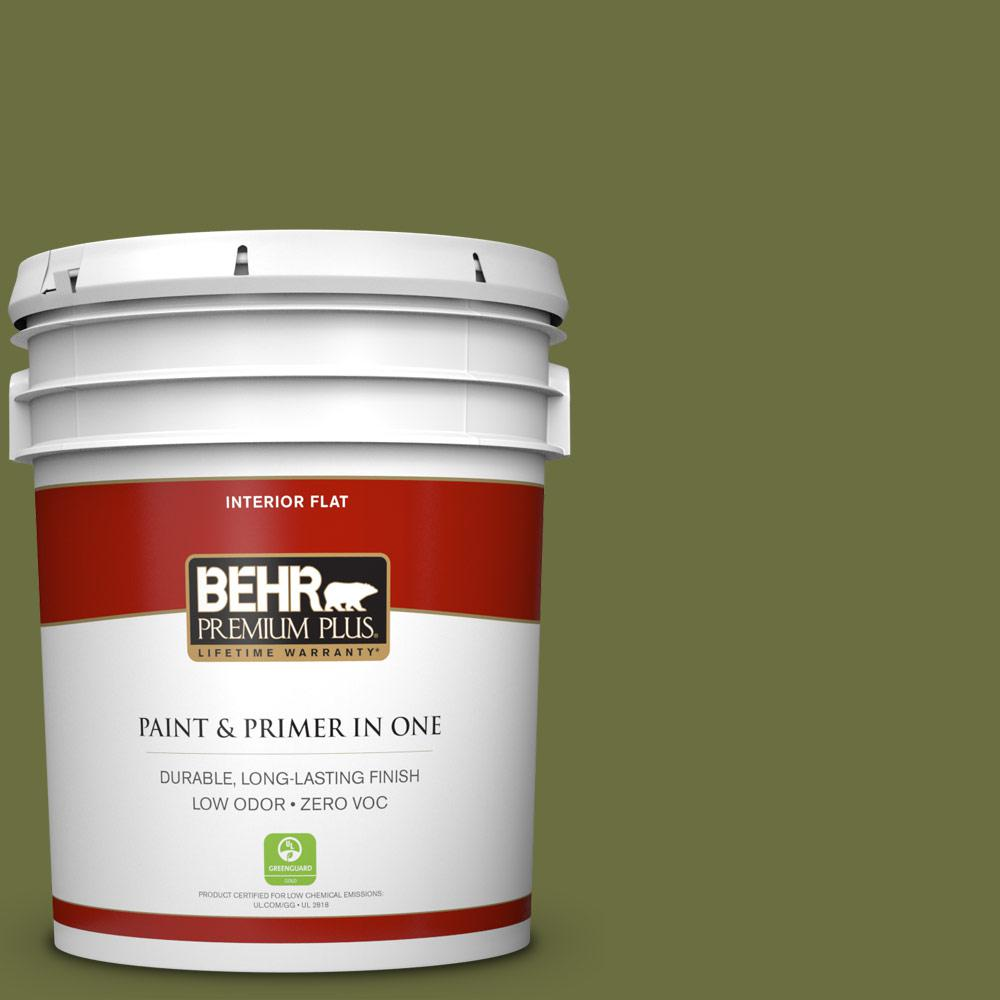 5 gal. #400D-7 Jungle Trail Zero VOC Flat Interior Paint