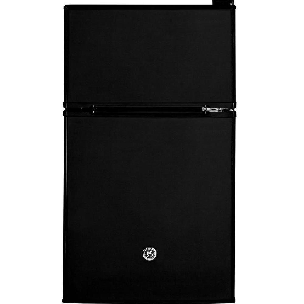 GE 3.1 cu. ft. Double- Door Mini Refrigerator in Black