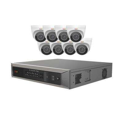 Ultra HD Plus 16-Channel 4TB NVR Surveillance System with 8 Audio Capable Motorized 4 Megapixel Cameras