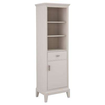 Shaelyn 20 in. W x 70 in. H Linen Cabinet in Rainy Day
