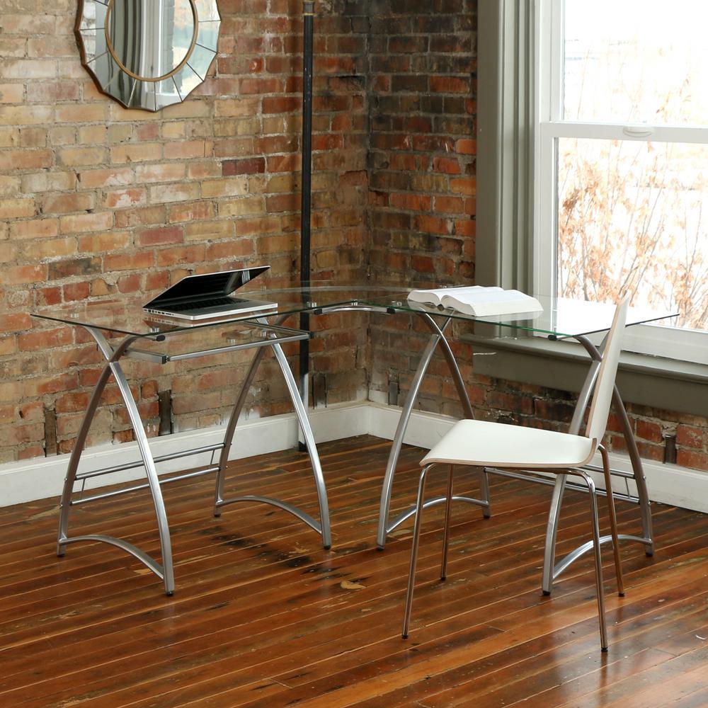 Walker Edison Furniture Company Alexa Silver Desk